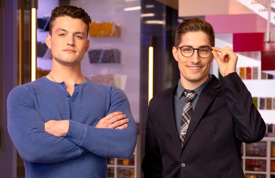 Team Superman and Clark Kent -Christian Cowgill (left) and Aaron Newman   (right) on LEGO Masters on FOX