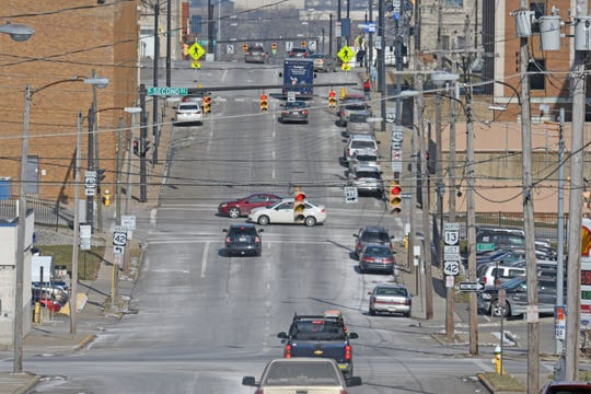 The section of Diamond Street north of First Street is being considered to be converted to a two-way street.