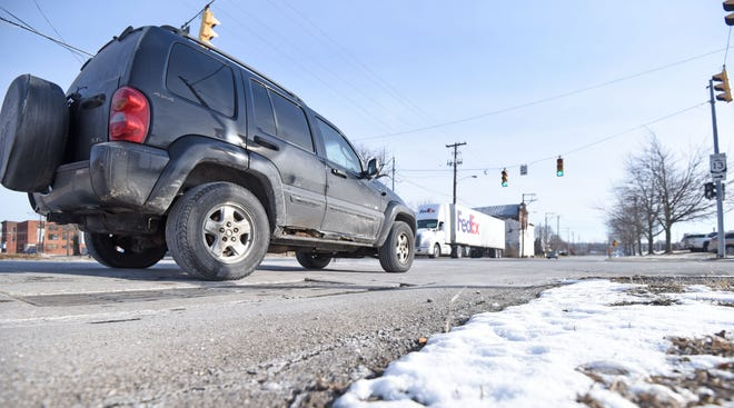 A portion of Sixth Street between Mulberry Street and Diamond Street is scheduled to be resurfaced this year.