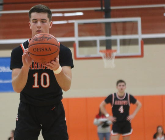 Ashland Mitch Heilman scored 22 points and was 3-for-3 from three in a 56-42 win over Mansfield Senior.