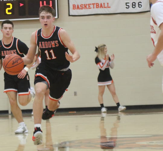 Ashland's Eli White spearheads a 3-guard offense for the Arrows.