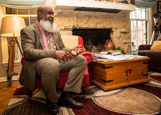 Horace Taylor, a Germantown resident who plans to run for president as an independent, sits in his home Wednesday, Jan. 22, 2020.