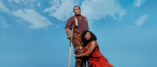 """Eric Owens and Angel Blue star in the Metropolitan Opera's new production of """"Porgy and Bess,"""" which can be seen Saturday and Wednesday at the Malco Paradiso."""