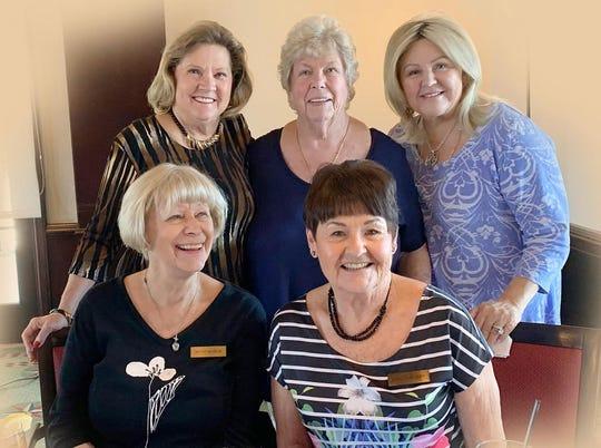 Enjoying the luncheon are;standingLinda Sobolewski, Patty Larkin and Sharyn Rodger.