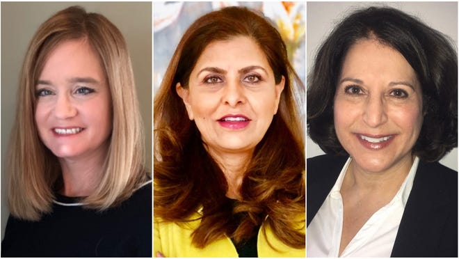 Candidates (from left) Jennifer Roskopf, Ghazala Sajjad and Leanne Wied will face off in a Feb. 18 primary election for the Elmbrook School Board. The three are vying to capture the at-large seat being vacated by board president Kathryn Wilson. The top two vote-getters will advance to the April 7 election.