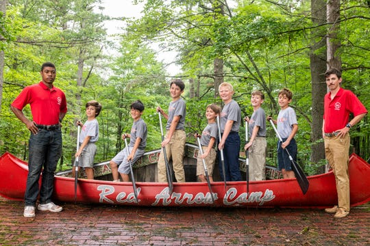 Fun cabin photos are a tradition at Red Arrow Camp near Woodruff.