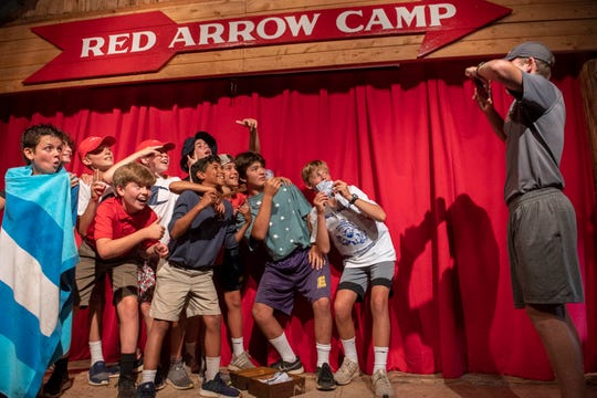 Skits, songs and other performances are a tradition at Red Arrow Camp near Woodruff.