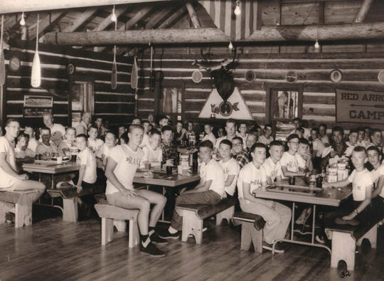 The mess hall at Red Arrow Camp dates back to a logging camp that was on the camp's site in the late 19th century.