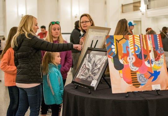 The fourth annual Young Artist Exhibition will be 5:30-7:30 p.m. Feb. 27 in Cornerstone's Colonnade Room.