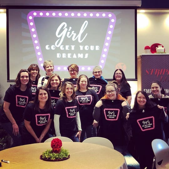 """Since its start in 2010, Stripped Love's volunteer numbers have gone from three to 20. Their 2019 motto was """"Girl, go get your dreams."""""""