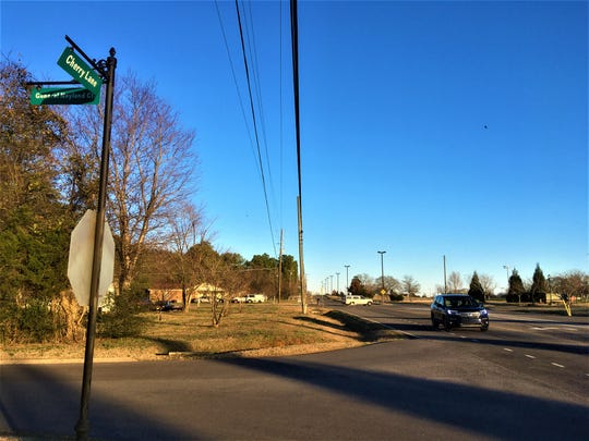 Commuters drive on Cherry Lane on the north side of Murfreesboro. City officials plan to widen and extend Cherry Lane to a future interchange at Interstate 840 by 2024.