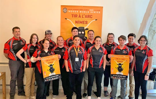 Fairview's Lexie and Katie Statton were members of The American Archery Team at the World Archery Tournament in Nimes, France, January 17-19, 2020.