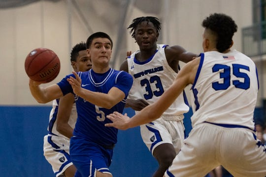 Photos from Community School of Naples boys basketball game against Canterbury School (Ft. Myers),Tuesday, Jan. 21, 2020, at Community School of Naples. Community School of Naples beat Canterbury School 72-62 in overtime.
