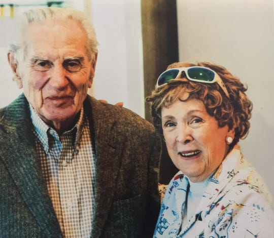 Robert Boke, 94, and Margaret Kerry, 90, are set to marry on Valentine's Day, 70 years after they last dated. This photo shows them on the first day they reunited in the fall of 2019. He currently lives in South Carolina and she lives in California. The couple will reside in Sarasota after the wedding.