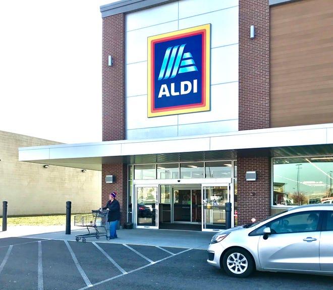 The new Aldi store in the Cross Creek shopping center, in Heath.
