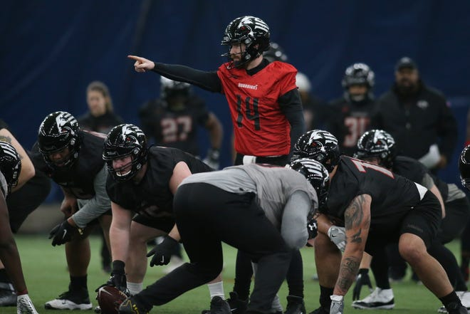 New York Guardians quarterback Matt McGloin, a former Penn State standout and Oakland Raider, has been integral in Head Coach Kevin Gilbride's offensive philosophy for the upcoming XFL season.