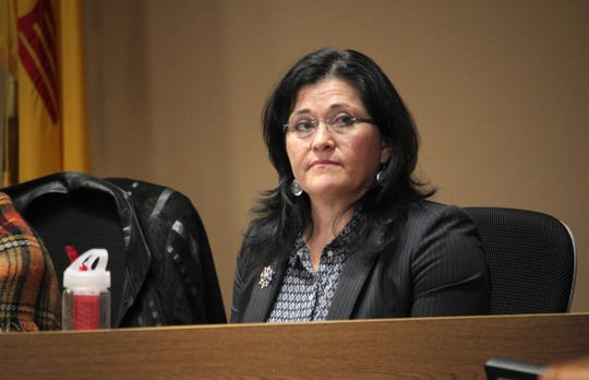 Las Cruces Public Schools Superintendent Karen Trujillo, seen at the Jan. 21, 2020 school board meeting. The March 17 board meeting was live streamed and public comments shared via email in keeping with social distancing measures directed by the New Mexico Department of Health to help slow the spread of the COVID-19 coronavirus.