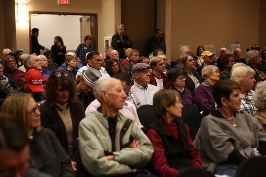 Attendees listen at a town hall hosted by U.S. Rep. Xochitl Torres Small, D-N.M., at the Farm and Ranch Heritage Museum in Las Cruces on Jan. 21, 2020.