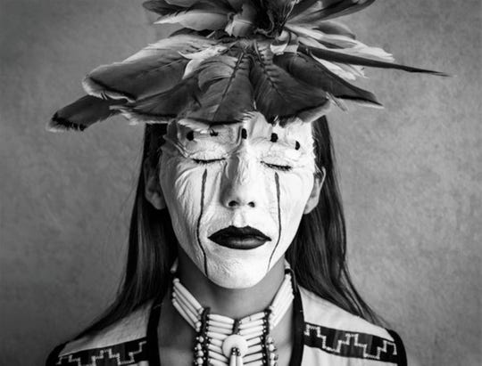 "New Mexico Magazine photo contest grand prize winner, people category, ""Lauren Grey Hawk,"" by Ron Cooper."