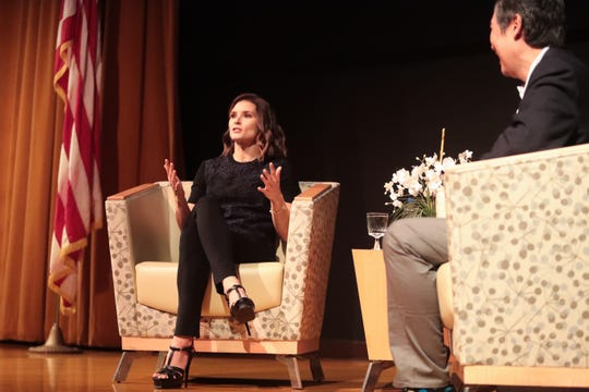 Danica Patrick participates in the Rancho Mirage Speaker Series on Tuesday, Jan. 21, 2020 in Rancho Mirage, Calif.