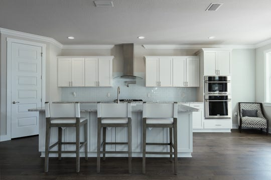 The open kitchen is perfect for the home chef.