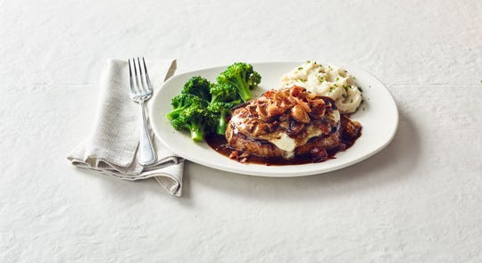 The Fontina Pork Chop is one of the 'Throwback Thursday' menu items available during Bonefish Grill's 20-year anniversary celebration on Jan. 23. The Pensacola location on 12th Avenue is participating in the festivities.