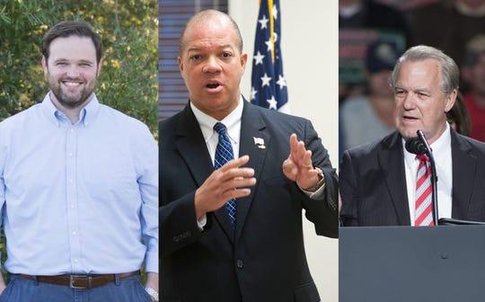 State representatives Alex Andrade, Mike Hill and state Sen. Doug Broxson