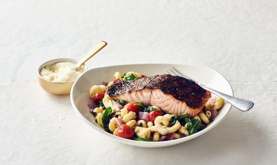 The Blackened Salmon Pasta is one of the 'Throwback Thursday' menu items available during Bonefish Grill's 20-year anniversary celebration on Jan. 23. The Pensacola location on 12th Avenue is participating in the festivities.