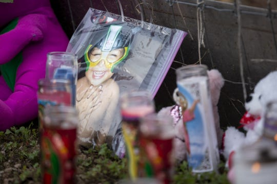 A memorial for three children allegedly killed by their mother, Rachel Henry, is pictured on Wednesday, Jan. 22, 2020 in Phoenix.