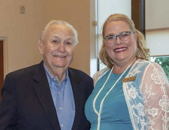 Former Chandler Mayor Jerry Brooks with Michelle Mac Lennan, general manager of the Chandler Center for the Arts.