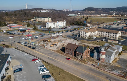 Several buildings are being demolished at the corner of N. George Street and Arsenal Road in Manchester Township. Wednesday, January 22, 2020 John A. Pavoncello photo