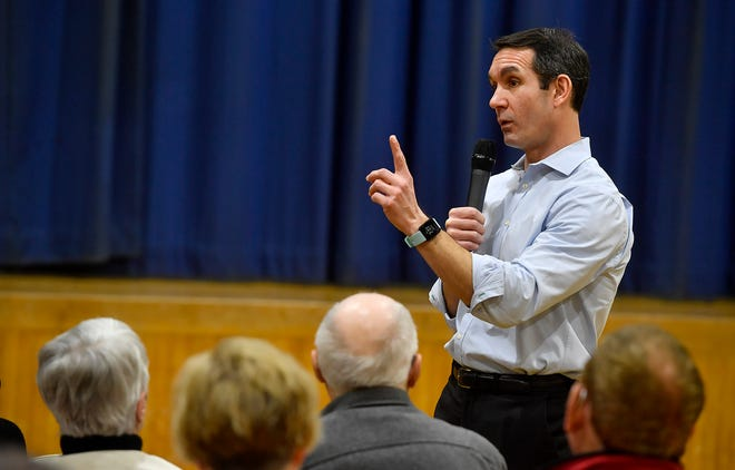 State Auditor General Eugene DePasquale holds his first campaign event in York at Crispus Attucks, Tuesday, January 21, 2020. DePasquale is running as a democratic challenger to Congressman Scott Perry.