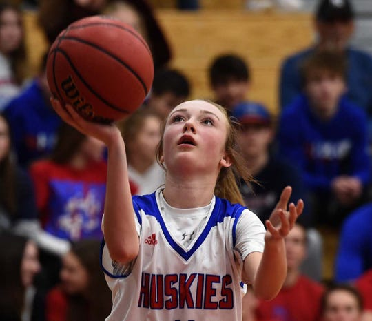 Action photos from the Reed at Reno girls basketball game on Jan. 21, 2019. Reno beat Reed 49-32.