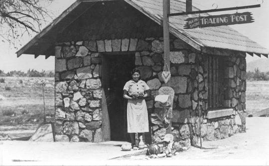 The Wa Pai Shone Trading Post sold Stewart Indian School student artwork. The trading post is pictured in this undated photo.