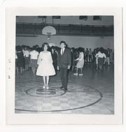 Stewart Indian School dance in old gym in the 1960s.