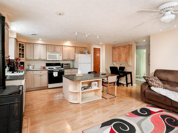 This 1,000 square-feet in-law apartment has a kitchen, two bedrooms and a private bathroom.