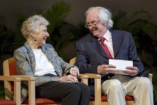 Philanthropists and community leaders Edith and Peter O'Donnell Jr. have been named History-Making Texans by the Texas State History Museum Foundation