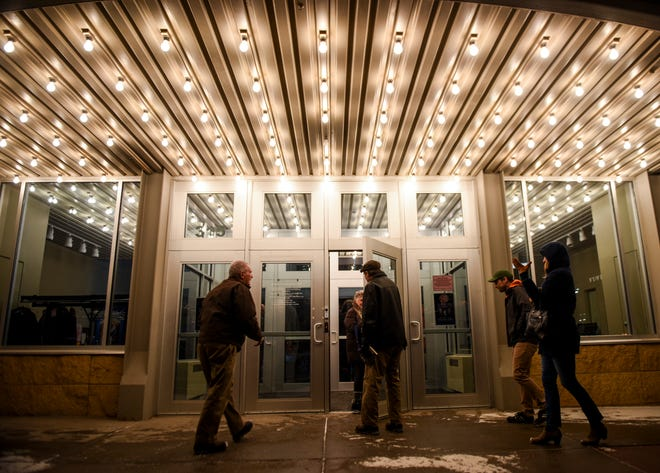 People filter into watch a movie at the Orpheum on Jan. 10, 2020.