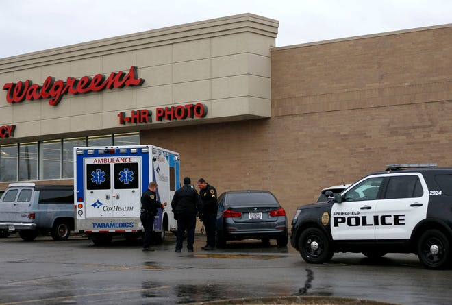 A man was shot in the foot at Kum & Go at the corner of College Street and Kansas Expressway before driving himself to a nearby Walgreens on Wednesday, Jan. 22, 2020.