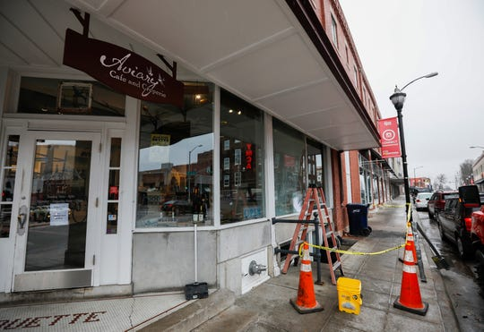 A driver who was fleeing from Greene County Sheriff's deputies crashed into the Aviary Cafe in downtown Springfield early Wednesday, Jan. 22, 2020.