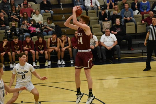Cedar's Dallin Grant, one of the most versatile players in Region 9, dropped 18 points against Snow Canyon Tuesday, January 21.