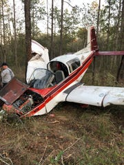 Two people were injured Tuesday when their small plane went down in the Apalachicola National Forest four miles south of Tallahassee International Airport.