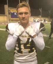 Newbury Park High's Tyson Lundring, who had 60 receptions for 1,164 yards and 12 touchdowns in his senior season, will play for the East team in the Ventura County All-Star Football Game on Saturday.