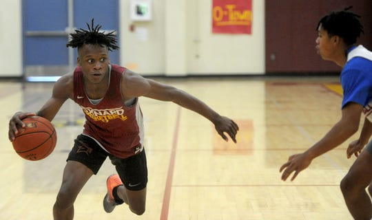 Stacy Johnson is the leading scorer for a deep and talented Oxnard High boys basketball team.