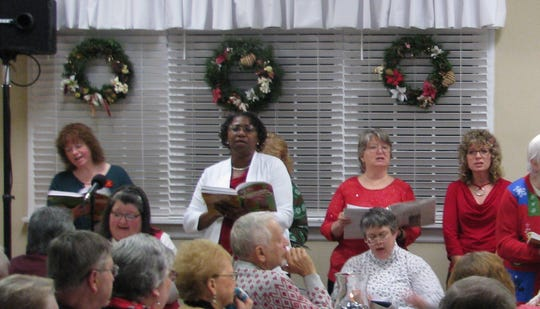 The New Hope United Methodist Church Christmas Choir, under the direction of Pastor Ted Osler, presented dinner/theater performances to sellout audiences.