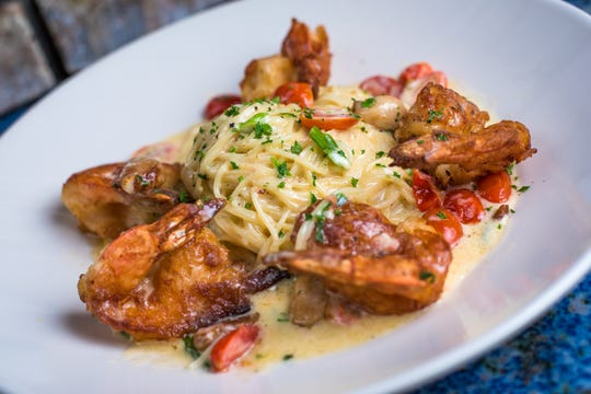 More than burgers and beer: Blu Alehouse in West Nyack serves up a host of entrees including shrimp and pasta.