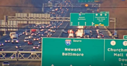 Two south lanes of I-95 closed Wednesday morning due to a car fire.