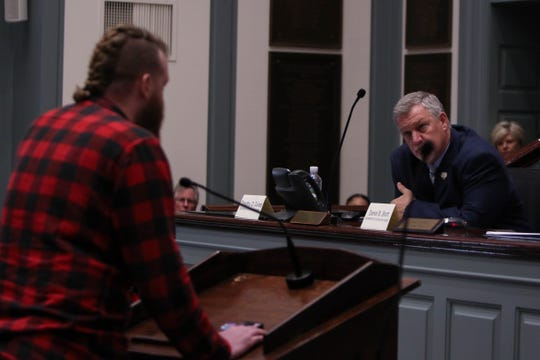 """A few dozen activists and community members showed up at the Delaware state legislature on Wednesday to give comment on a bill that would ban untraceable firearms, known as """"ghost guns."""""""