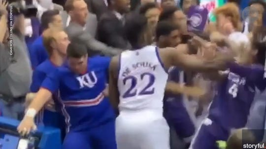 Bill Self on 'embarrassment' of Kansas-Kansas State brawl: 'Ridiculous' it happened in the stands