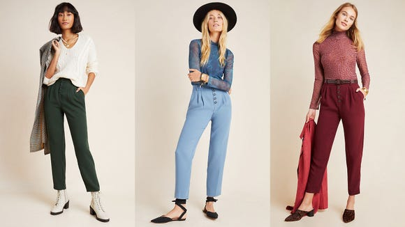 These button-fly trousers are the ultimate in workplace chic.